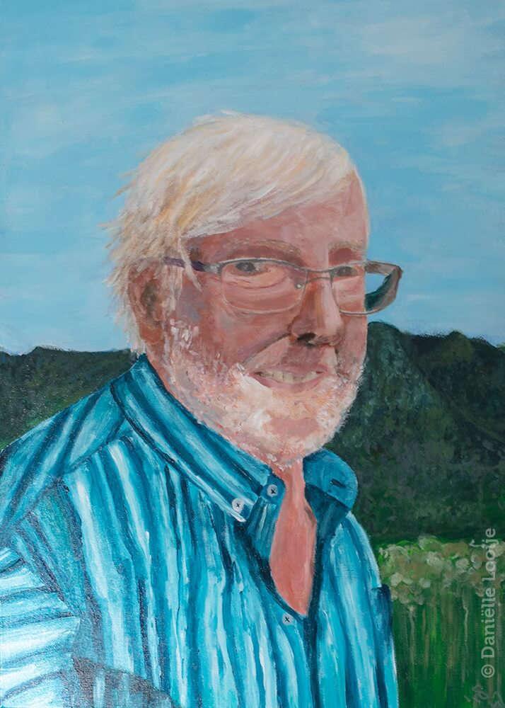 Portretschilderij van opa