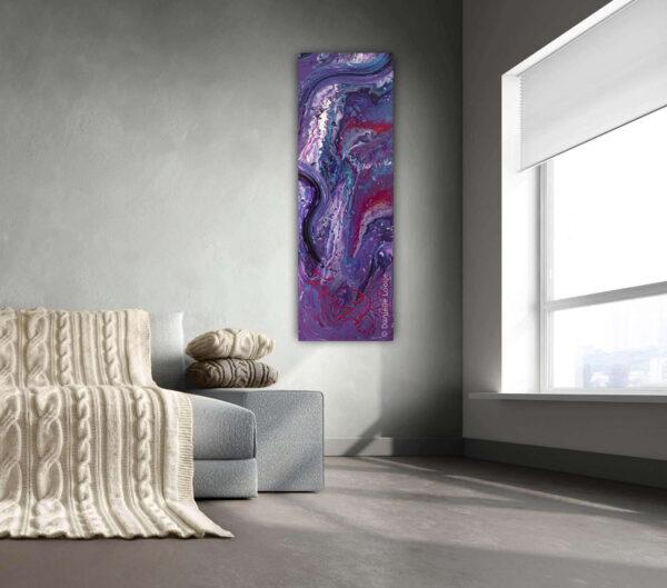 Prachtig paars paneel schilderij voor aan de muur