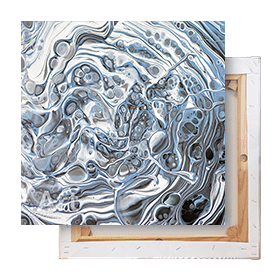Schilderij grijs op canvas