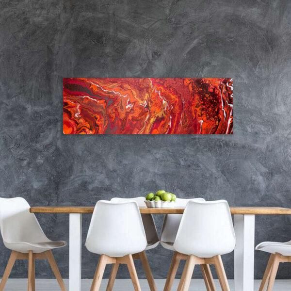 Canvas schilderij abstract oranje verticaal - Maximaal 10 afdrukken beschikbaar in mijn webshop