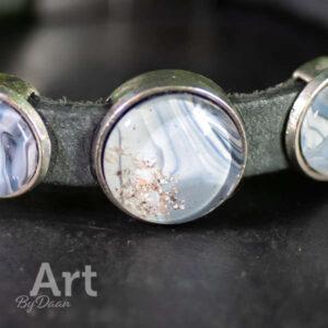 As armband -Vrouw / hond / zilver / met asruimte / asbedel / heren / kind / opa / oma / vader / moeder / overledenen / Liefdevol, herdacht met deze bijzondere handgemaakte as armband