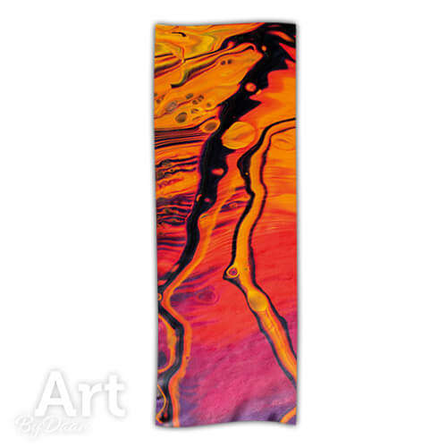 Kleurrijke cashmere sjaal met oranje en roze