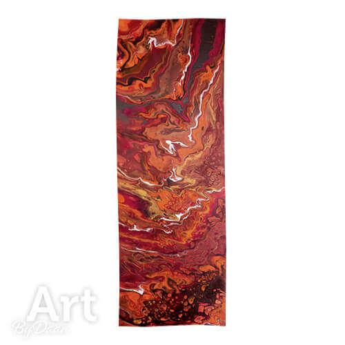 Bijzondere cashmere sjaal oranje