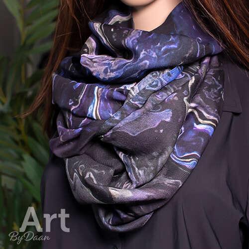 Unieke cashmere sjaal paars