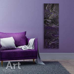 Langwerpig paars schilderij verticaal nu te koop en nieuw toegevoegd in mijn webshop - Bekijk hier ook mijn overige kunst