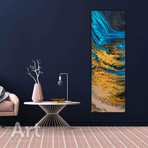 Langwerpig schilderij strand paneel 120x40