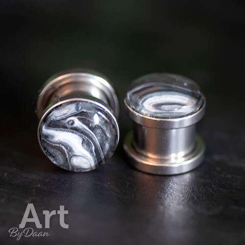 unieke oorplugs met schroefdraad 10mm