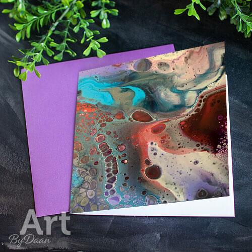 Unieke kunstkaart met afdruk van een schilderij