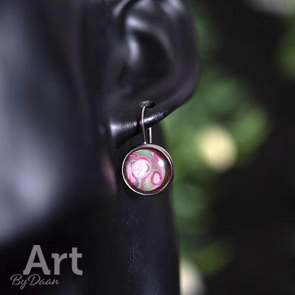 Sieradenset met armband en oorbellen en gekleurde stenen