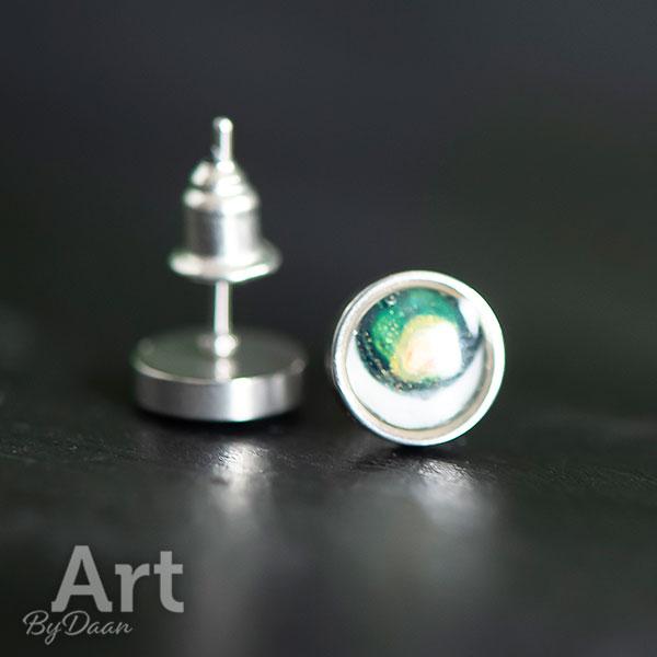 Kleine waterproof oorknopjes groen
