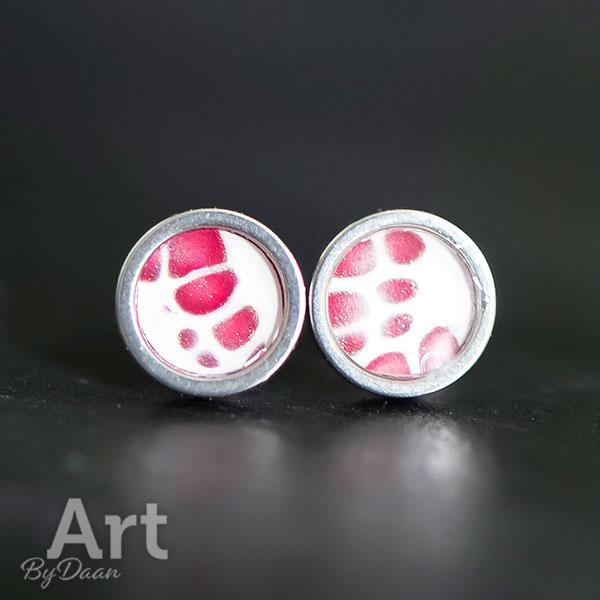 Kleine waterproof oorknopjes rood