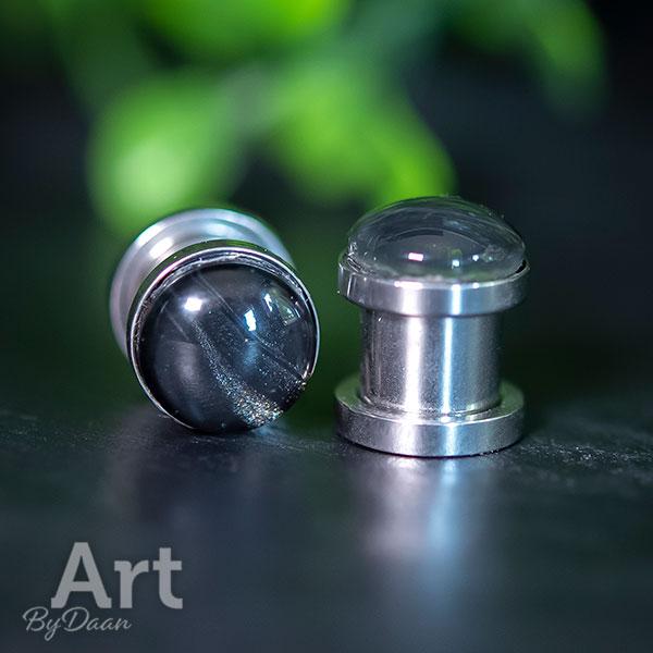 Unieke tunnens of plugs zwart - 8 mm