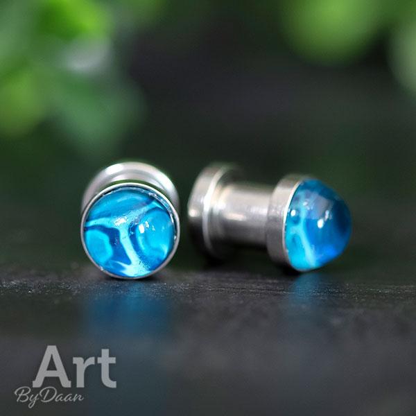 Unieke tunnel earplugs blauw hypoallergeen