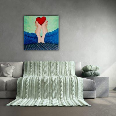 Schilderij van voeten 60x60