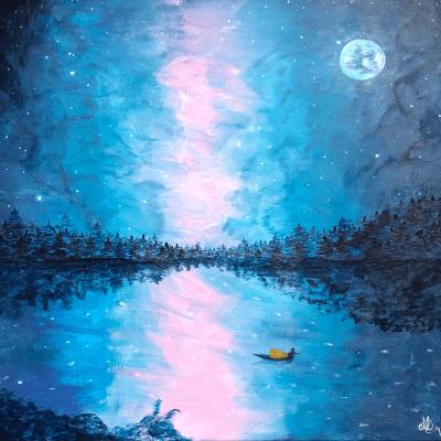 2018-visser-in-de-kleurrijke-nacht-50x50