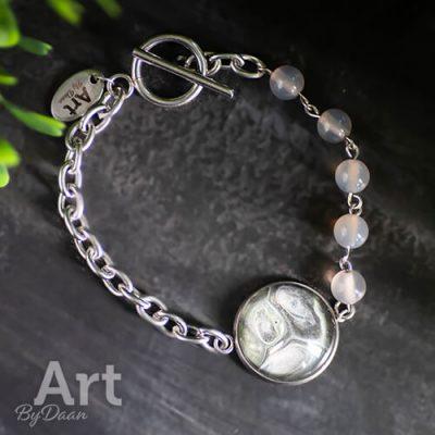 Handgemaakte armband met agaat edelstenen