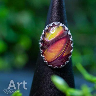 Handgemaakte sieraden - Aparate - Unieke Ringen van RVS voor dames en heren, grote steen, kleine steen, opvallende grote ringen
