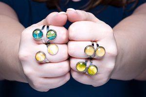 Handgemaakte sieraden, uniek & exclusief - Kleur geel