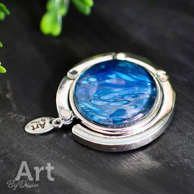 Tassenhanger tafel blauw